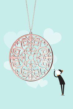 Tiffany Enchant® round pendant in RUBEDO® metal. #TiffanyPinterest