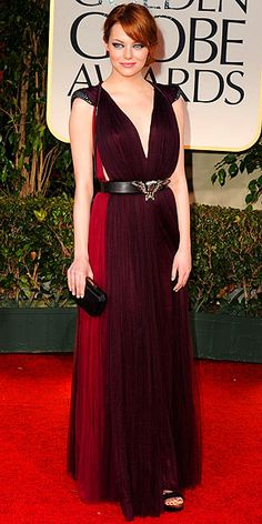Emma Stone, Golden Globes 2012..I love her! She is so precious!