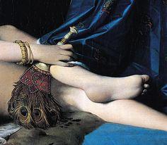 "Dominique Ingres ""La gran Odalisca"" fan detail"