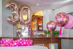 30th Birthday celebrated with Pink Balloons #Adelaideballoons #Balloonsadelaide #Rosegold #Balloons #Rosegoldballoons #Confetti #Confettiballoons #Pink #Pinkparties #30 #thirty #thirtybirthday #Birthday #Birthdayideas #Balloonideas #Celebration #Events #Adelaideevents #PuffandPop