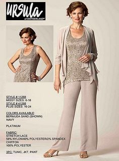 Ursula 11268 Mother of the Bride Pant Suit image