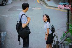 My ID Is Gangnam Beauty - Kyung Seok & Mi Rae dating in school uniform Drama Film, Drama Series, Kdrama, Drama School, Cha Eun Woo Astro, Korean Actors, Korean Dramas, Drama Korea, Kpop