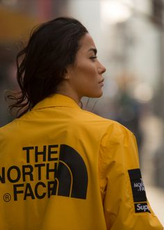 North Face supreme yellow jacket