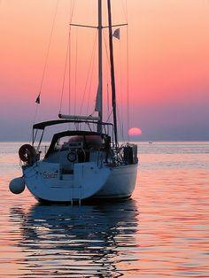 sunset in Fažana , Croatia