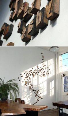 DIY: letterpress block wallhanging