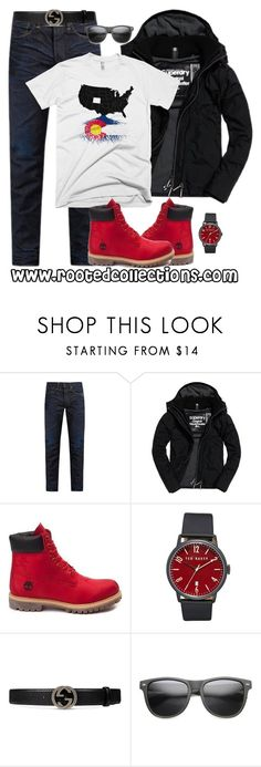 """""""rooted collections - OOTD #32"""" by rootedcollections on Polyvore featuring KURO, Superdry, Timberland, Ted Baker, Gucci, ZeroUV, men's fashion, menswear, ootd and colorado"""