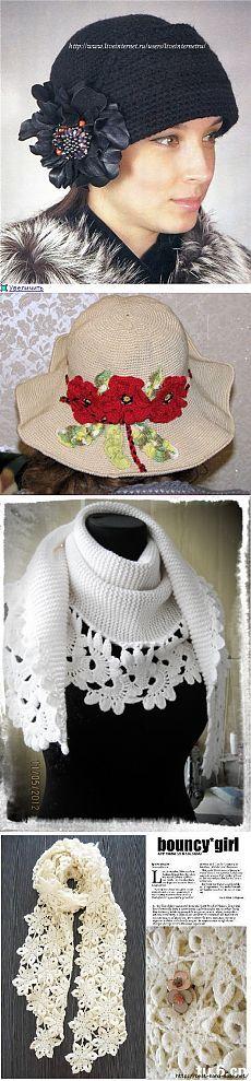 Shawls, scarfs, hats hook. Selection 22