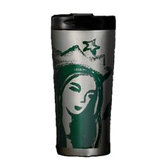 Starbucks 2015 Illustrated Siren Portrait Stainless Steel Tumbler Coffee Mug 16 Oz * For more information, visit image link.