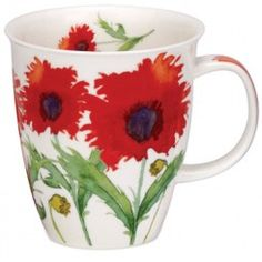 Dunoon Nevis shape Mug Coquelicot