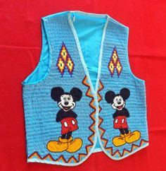 Spectacular Fully Beaded Mickey Mouse Vest - One of a Kind