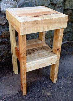 Reclaimed Nightstand by ThePalletShop on Etsy, $125.00 All it needs is a butcher block top and a kitchen.
