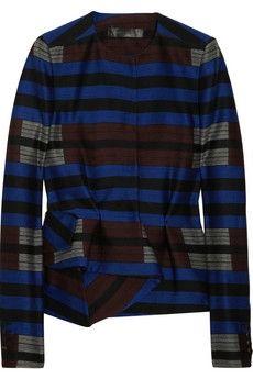 Proenza Schouler|Striped wool-blend jacket|NET-A-PORTER.COM - StyleSays