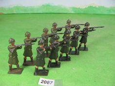vintage britains lead soldiers highlanders khaki firing standing 2087 | eBay