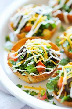 Mini Taco Salad Cups