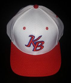 K B baseball Cap Team Unknown Velcro Adjustable MED/Large White Red #richardson #BaseballCap
