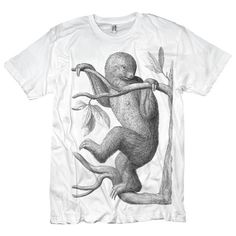 T-shirt of Extinct Sloth Animal Creature. $17.00, via Etsy.