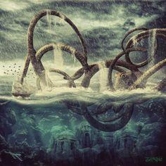 Kraken by *djz0mb13 (Halim Zombie, Indonesian artist).