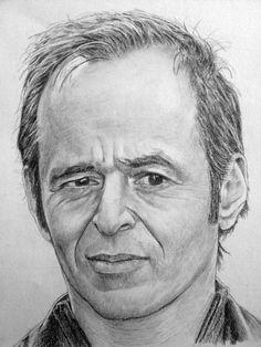 ❤ ❤ Manvale - Dessinateur au Fusain, Crayon Graphite, Crayons de couleur et Stylos à bille - Jean-Jacques Goldman Portrait Au Crayon, L'art Du Portrait, Pencil Portrait, Cool Pencil Drawings, Realistic Drawings, Art Drawings, Drawing Portraits, Jean Jacques Goldman, Art Visage