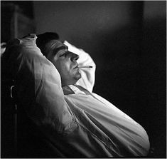 """Ernst Haas Photographer Robert Capa Relaxing at the Magnum Photography Office, Paris 1949  """"You don't have to pose your camera. The pictures are there, and you just take them. The truth is the best picture, the best propaganda."""" Robert Capa,..."""