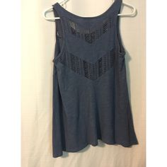 Navy Crochet Tank Great condition barely worn!  (back is shown in first picture) Mossimo Supply Co Tops Tank Tops