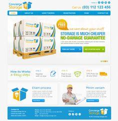 Concierge Storage Website Design