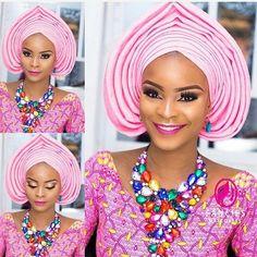 The headgear Issa WAwu  #asoebispecial #asoebi #speciallovers #makeup #weddings #bridalinspiration #gele  Glam and Gele @fanciesmakeovers