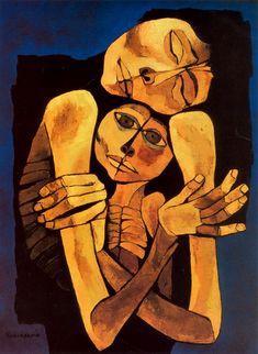 Self-Portrait - Oswaldo Guayasamin - WikiArt.org
