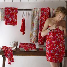 PiP Studio Chinese Blossom Face Cloth, Red
