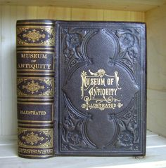 Museum of Antiquity 1881 Antique Book Stamped Leather Binding World History Victorian Binding by CrookedHouseBooks on Etsy