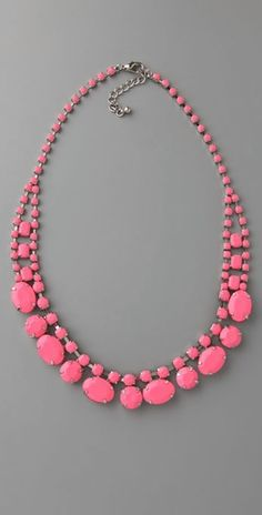 Adia Kibur Neon Stone Necklace $68 #neon #necklace #jewelry