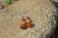 Boucles d'oreille en pierre naturelle monture en argent 925 : Boucles d'oreille par instant-precieux