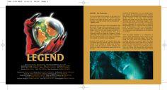 Legend OST CD booklet spread. Client: Silva Screen Records. Circa 2002. © Sean Mowle.