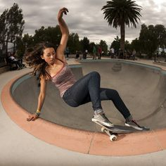 """dust-inyourface: """" theschubox: """" therealburnout: """" Lizzie, layback. 2012. """" No more poser skate chicks! This chick is ripping! """" hello """""""