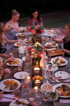 Eclectic outdoor dinner party & wine tasting