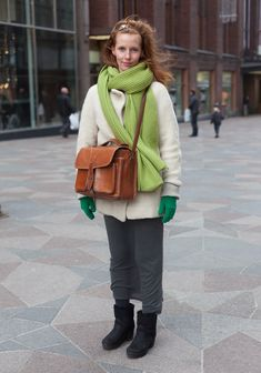 """Liisa, 27: """"All my clothes are second hand except the Ugglebo shoes."""""""