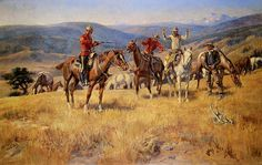 When Law Dulls The Edge Of Chance - Charlie Russell in his youthCharles Marion Russell (b. 1864, Oak Hill, Missouri - d. 1926, Great Falls, Montana), also known as C.M. Russell, was one of the great artists of the American West. Russell created more than 2,000 paintings of cowboys, Indians, and landscapes set in the Western United States, in addition to bronze sculptures. His mural entitled Lewis and Clark Meeting the Flathead Indians hangs in the state capitol building in Helena, Montana.