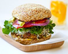 Spicy Vegan Chili Burger.  Lots of options for this for add-ins and to customize the heat.  Can fry or bake.
