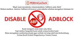 Cara Memasang Anti AdBlock / Disable AdBlock Di Blog Kita      Halo sobat Uman apa kabar nih? Senang sekali bisa kembali lagi update artikel...