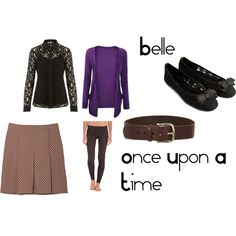 """""""Belle from Once Upon A Time"""" by reannekesler on Polyvore"""