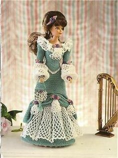 """Theater Gown 11 1/2"""" Fashion Doll Crochet Pattern"""