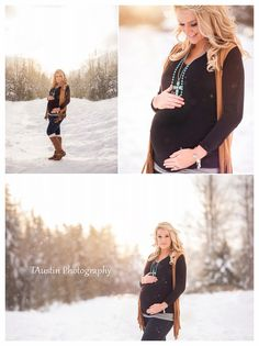 Winter Snow Maternity Photos TAustin Photography 3 - Pregnant Womans World Winter Maternity Pictures, Family Maternity Photos, Maternity Poses, Winter Pregnancy Photos, Maternity Winter, Christmas Maternity, Sibling Poses, Family Posing, Family Portraits