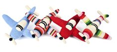 -airplane crochet cuddly toy anne claire petit variation blue sky brand ...