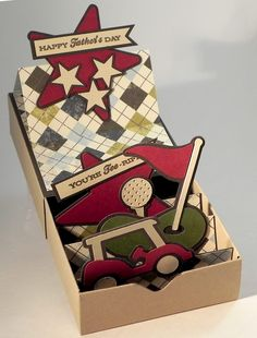 DIY Matchbox Father's Day Card - Golf Themed