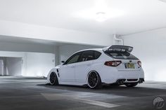 Subaru impreza wrx sti hatchback with great stance