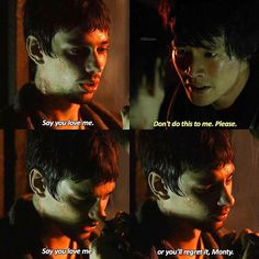 """#The100 4x11 """"The Other Side"""" - Monty and Jasper"""