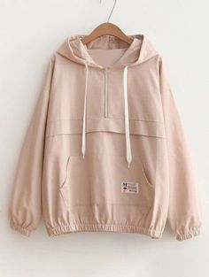 SHARE & Get it FREE | Patched Pocket Half Zip Hoodie - PinkFor Fashion Lovers only:80,000+ Items • New Arrivals Daily Join Zaful: Get YOUR $50 NOW!