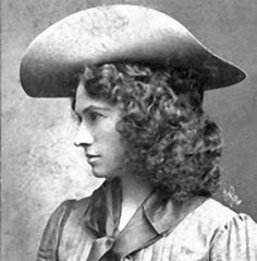 Annie Oakley was a great image of a self made, strong woman of the West. Darn good shooter as well.
