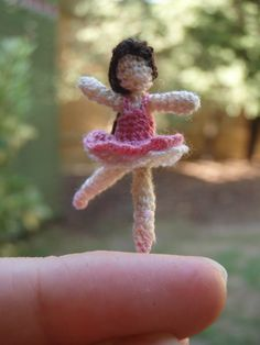 Micro Crochet Ballerina (scale shot) by honouraryweasley on DeviantArt