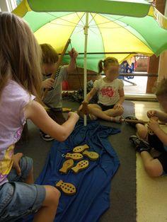 "John's Anglican Kindergarten: Fishing under an umbrella ("",) Play Based Learning, Classroom Environment, Preschool Kindergarten, Eyfs, Maths, Room Inspiration, Cool Kids, Classroom Ideas, Fishing"