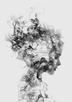 This artist creates the most beautiful double exposure photography prints.  | Dissolve Me Art Print by One Man Workshop | Society6